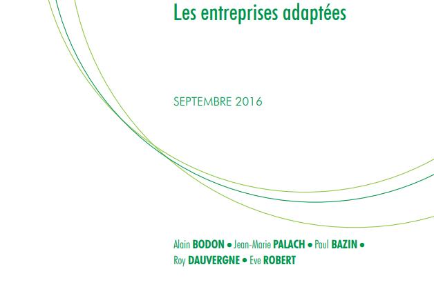 Rapport les entreprises adaptées, septembre 2016 IGF