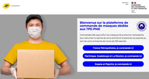 La plateforme « masques-pme.laposte.fr » est lancée